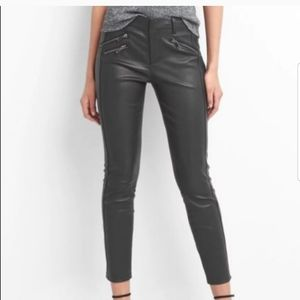 NWT GAP Genuine Leather Skinny Ankle Pants Size 8
